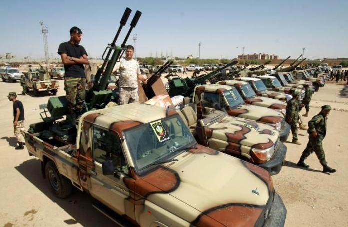Forces loyal to eastern-based Libyan commander Khalifa Haftar have faced setbacks as Turkey has increased support to forces loyal to Libya's Government of National Accord in Tripoli (AFP Photo/Abdullah DOMA)