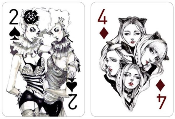 Художественная колода игральных карт от Конни Лим - Zefirka