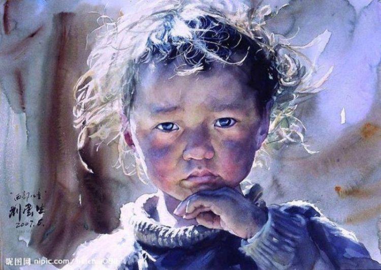 Реалистичные акварельные картины от Лю Йуншеня