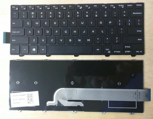 Spare Part Laptop Keyboard Laptop DELL Inspiron 14 3000 3441 3442 3446 3447 5000 Series
