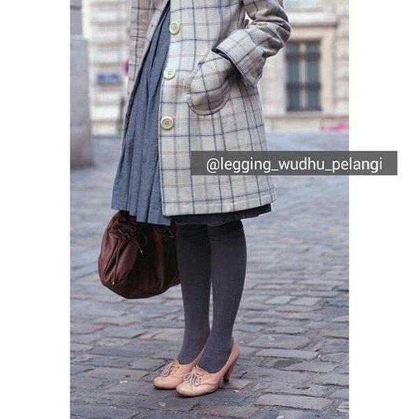 Celana Muslimah Legging Wudhu Pelangi