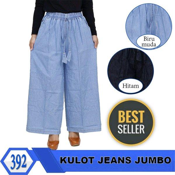 Kulot Jeans Jumbo Celana Panjang Wanita Kulot Big Size