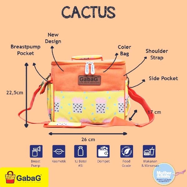 cooler bag tas asi gabag cactus