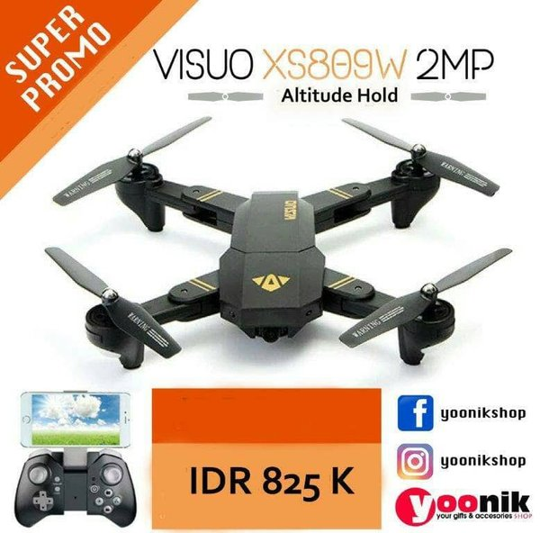 Eksklusif Drone VISUO 2MP DJI MAVIC CLONE
