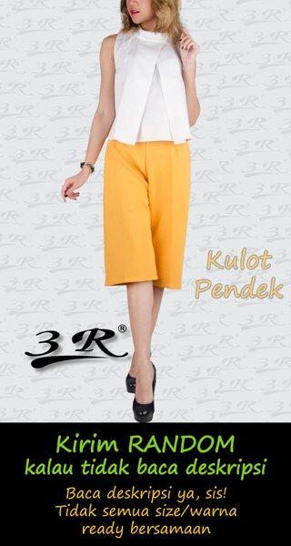 Celana Pendek Wanita Kulot 3R Cullote Scuba Casual Big Size Ready Diskon Limited Termurah Berkualitas