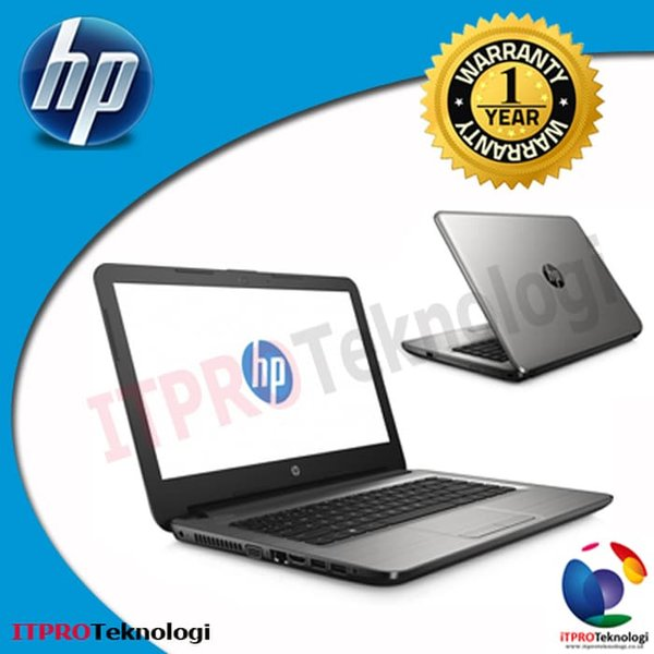HP 14 AN031AU Silver   AMD E2 7110M Quad 4GB 500GB UMA ODD 14 DOS Murah