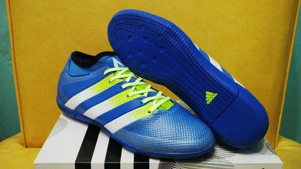 BIG PROMO Sepatu Futsal Adidas ACE 163 Primemesh Blue