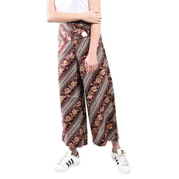 Celana Kulot Wanita Batik Marun