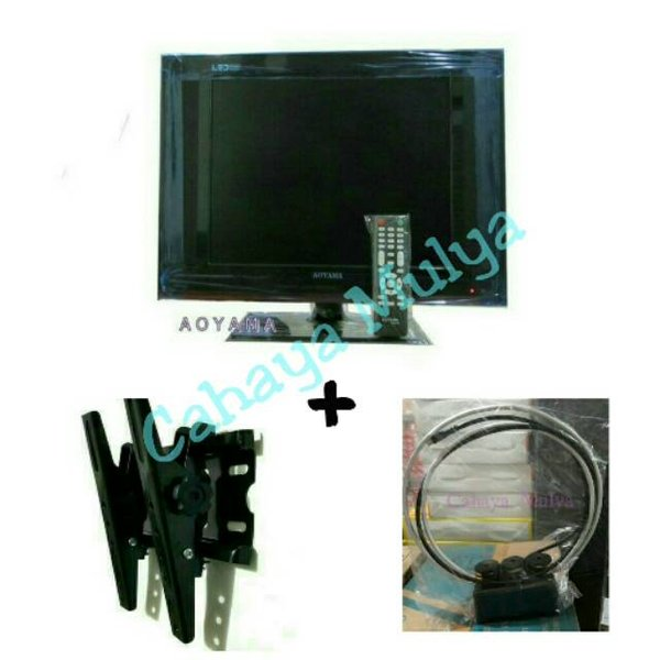 Televisi LED Aoyama 15 HDMI VGA Bracket TV Maxxis 10 -32 Antena Indoor