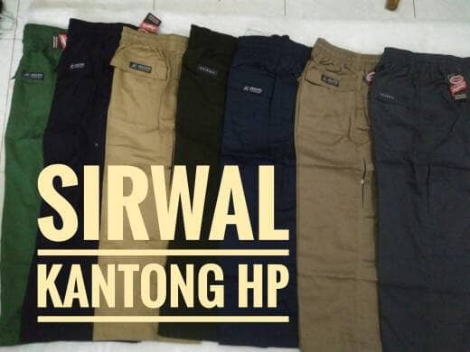 DISKON Celana Sirwal Kantong Hp