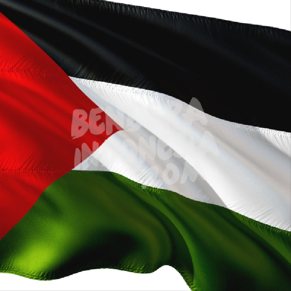 41 gambar bendera palestina dan indonesia kartun