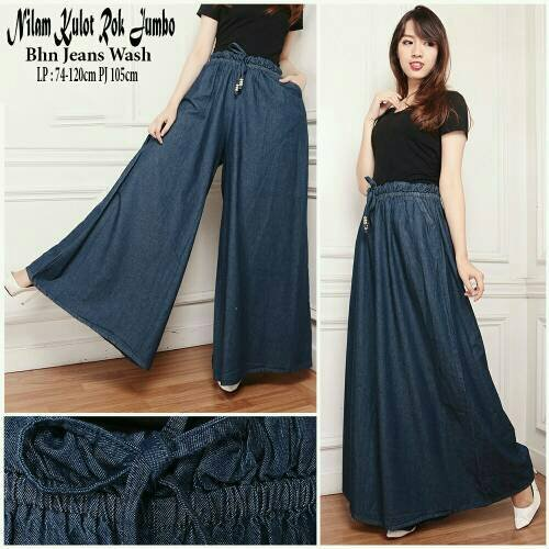 TERMURAH celana kulot rok jeans skirt panjang