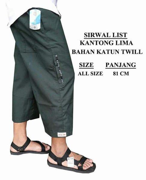 sirwal list 5 kantong