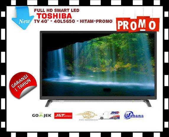 Toshiba Full HD Smart LED TV 40 - 40L5650 - Hitam-Promo