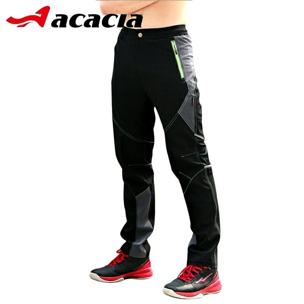 Celana Sepeda Panjang Import ACACIA Green Zipper Spring Autumn Outdoor Breathable Riding Clothing Ultralight Bicycle Bike Cycle Pants Outdoor Wear