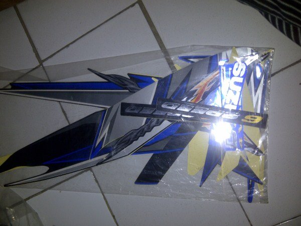Stiker/Stripping/Lis body Satria Fu 2009 Biru