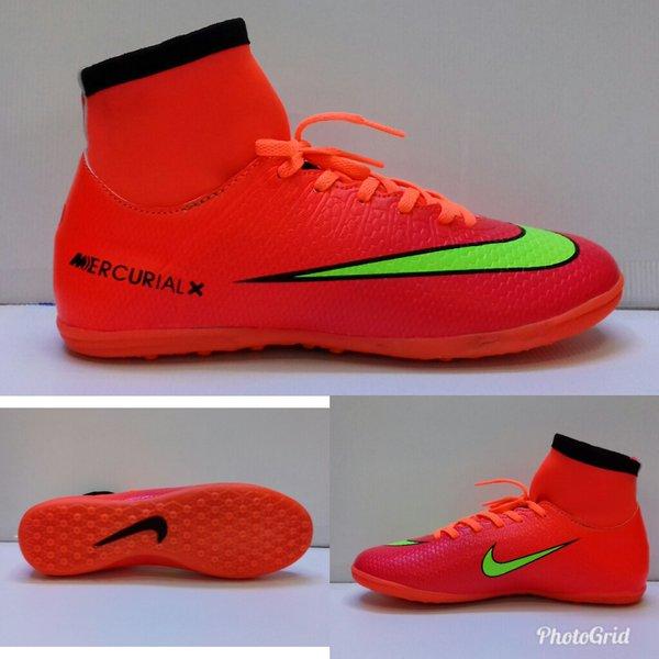 Sepatu futsal Nike mercurial X  orange list  kuning superfly tinggi