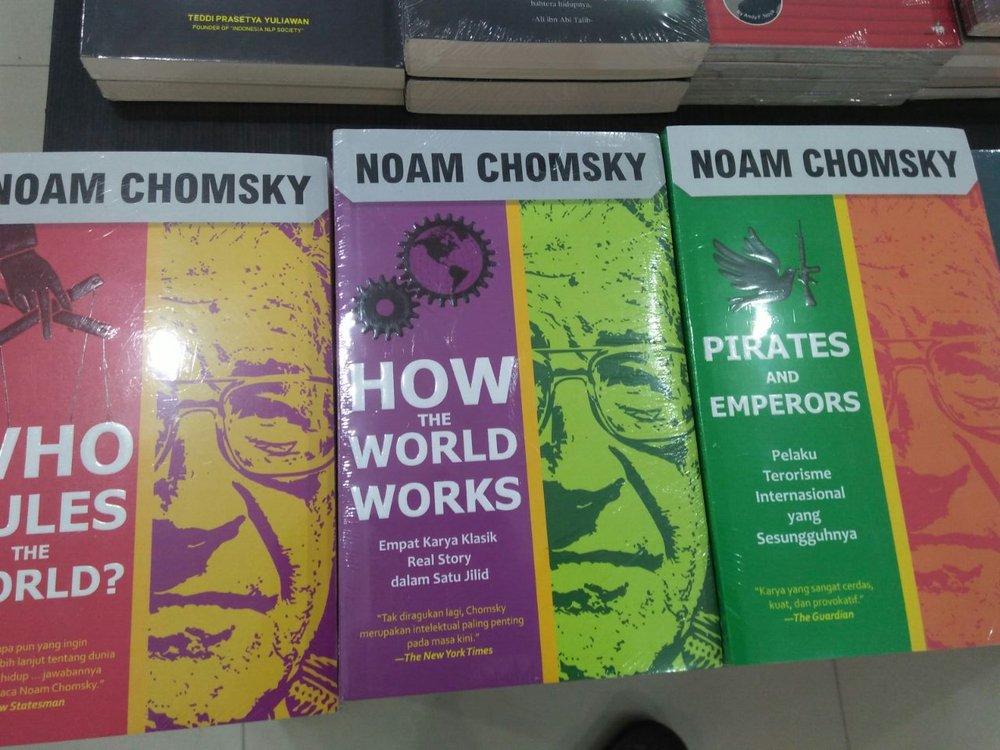 Hasil gambar untuk buku chomsky