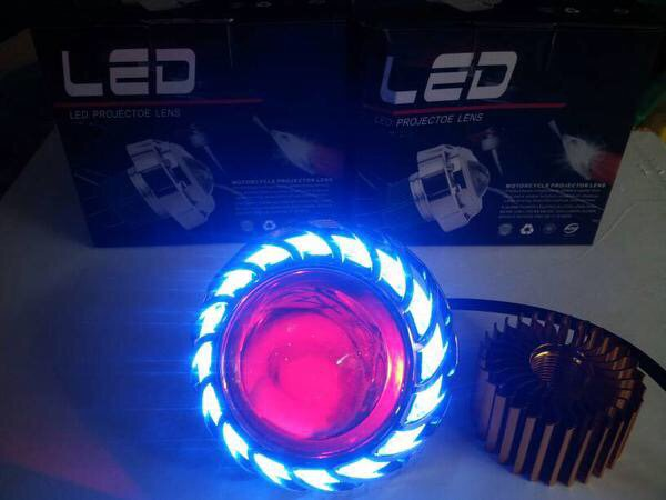 PROMO Lampu Led Projie Angel Eyes Devil Kipas