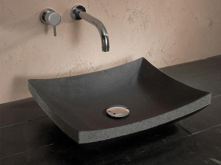 Vasque A Poser En Granit Noir Marion Arnoud Loherst