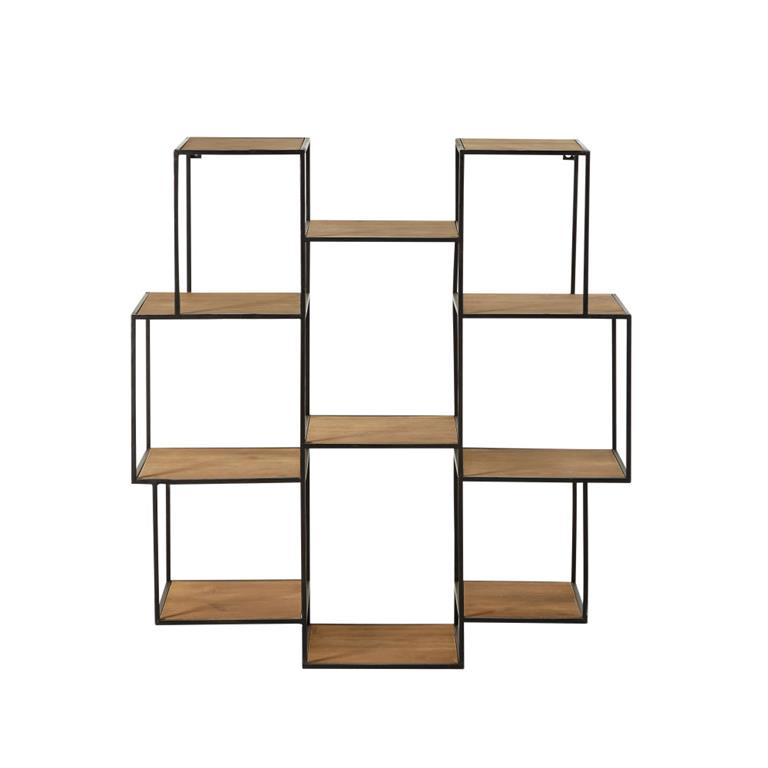 etagere destructuree en metal noir