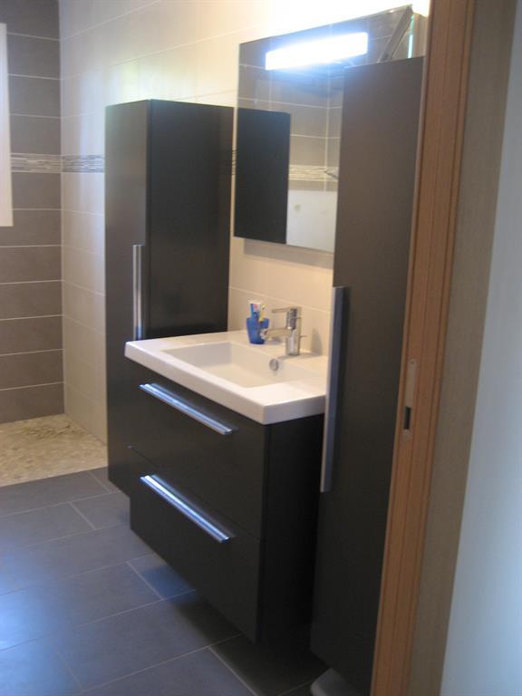 salle d eau camaieu marron et gris