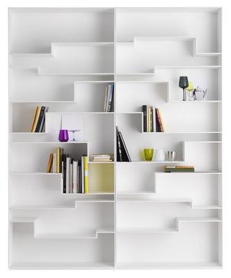 bibliotheque melody mdf italia blanc