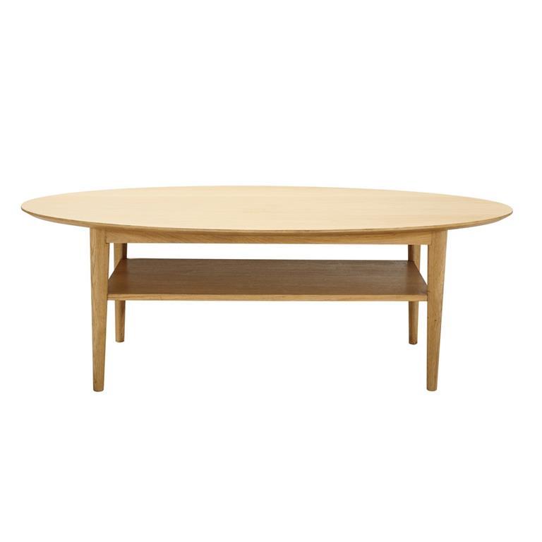 table basse vintage ovale elwood