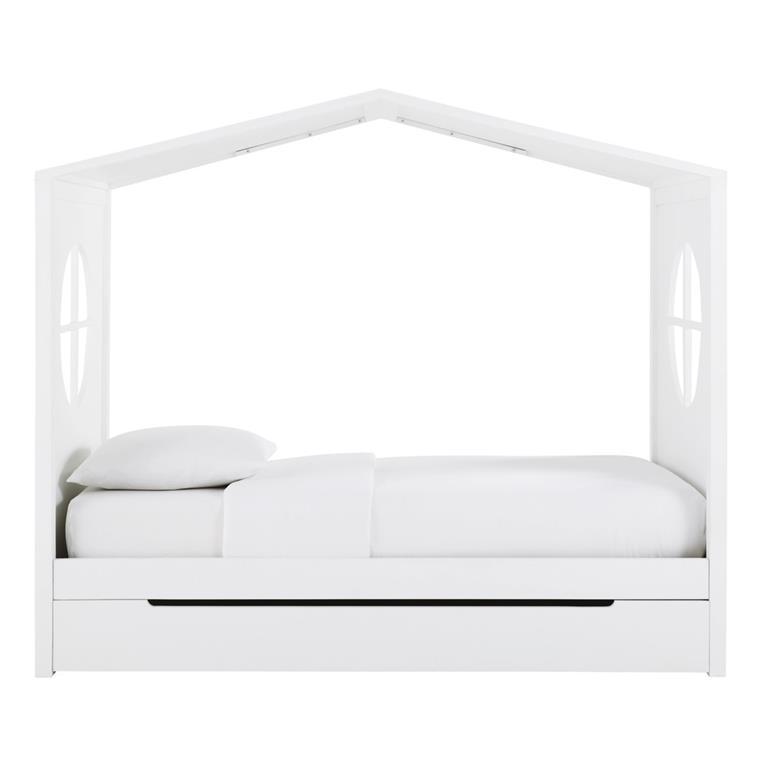 lit cabane enfant 90x190 blanc