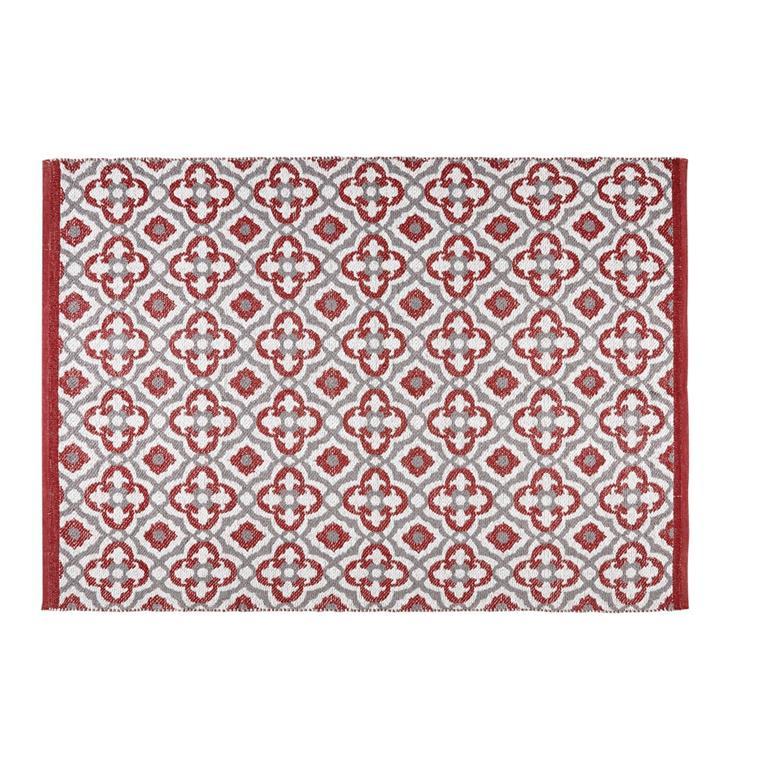 rouge motifs graphiques 160x230 maisons