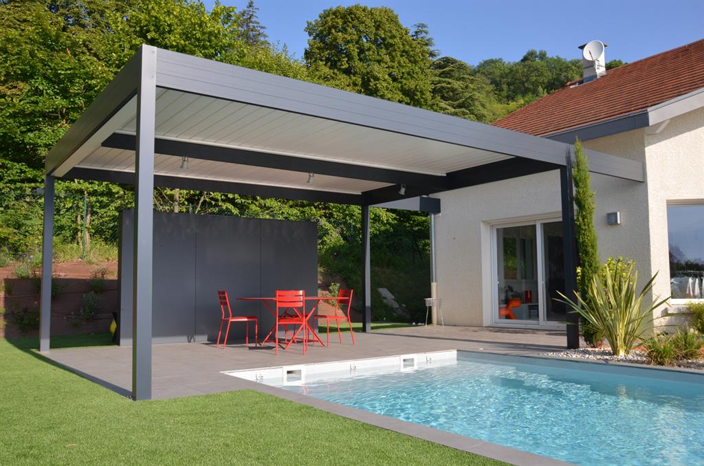 Grande Terrasse Couverte Pour Se Protger Du Soleil Devant