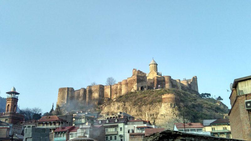 крепость Нарикала, достопримечательности Тбилиси зимой