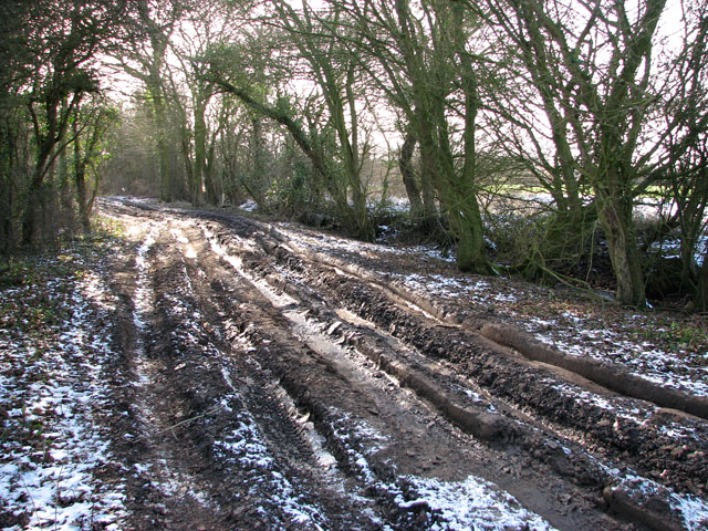Image result for frozen rutted road