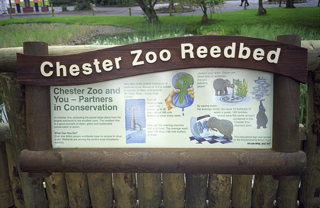 Interpretation Sign For Chester Zoo John Rostron Geograph Britain And Ireland