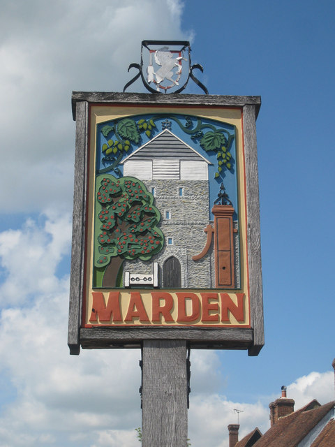 Marden Village Sign C Oast House Archive Geograph Britain And Ireland
