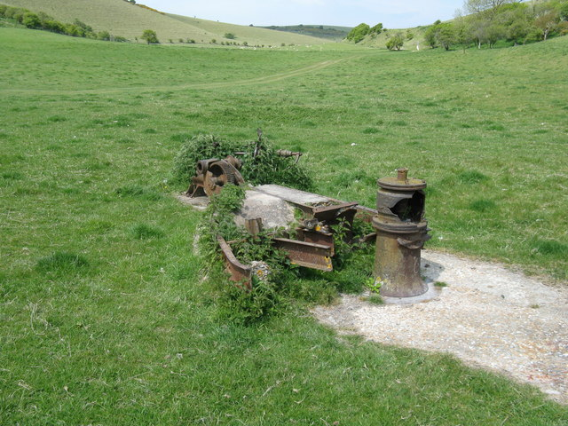 Industrial artefacts in Falmer Bottom (1) by Dave Spicer