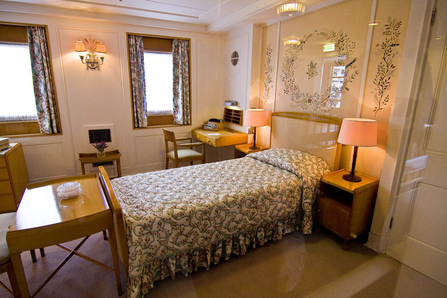 The Queen's bedroom on HMY Britannia - © Copyright Alan Findlay and licensed for reuse under this Creative Commons Licence.