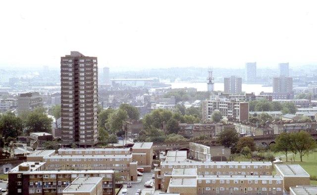 """Bow London high rise flats"""