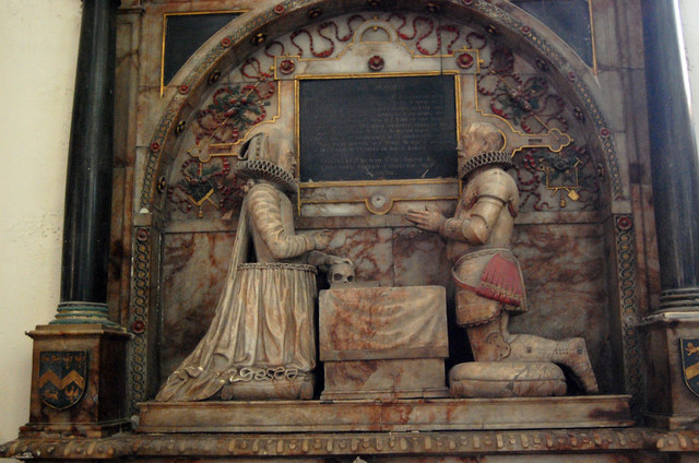 The Sir John & Elizabeth Smythe memorial, St Mary's Church, Ashford, Kent. Photo from geograph.org.uk