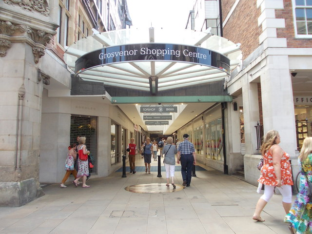Entrance To Grosvenor Shopping Centre Betty