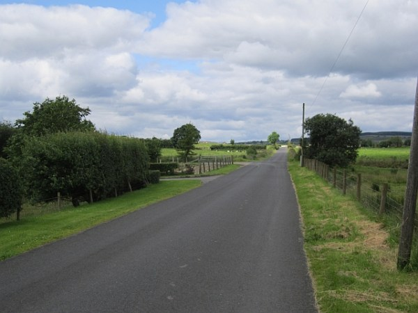 A long straight road © Richard Webb :: Geograph Ireland