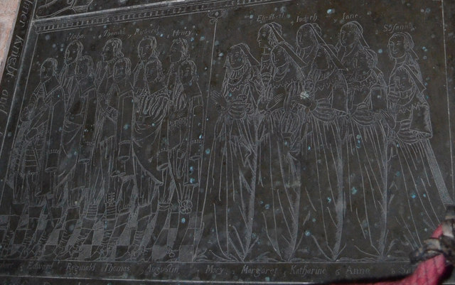 Detail of Brass to Sir Edward Filmer, East Sutton church