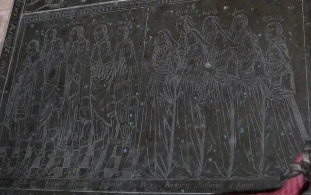 Detail of Brass to Sir Edward Filmer, East Sutton church