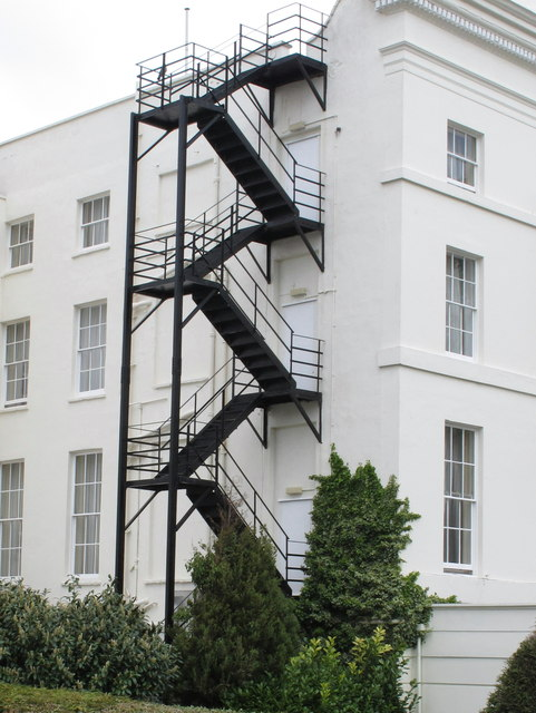 Fire Escape Staircase The Queen S Hotel 169 David Hawgood