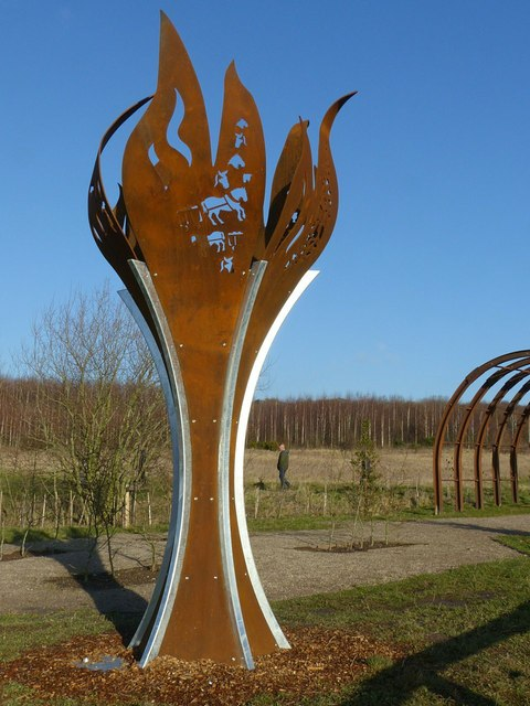 Flame Sculpture In The Memorial Garden 169 Alan Murray Rust