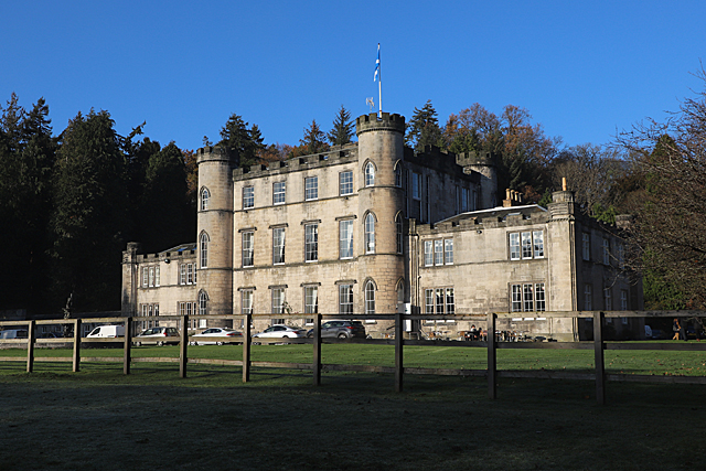 Melville Castle during the day