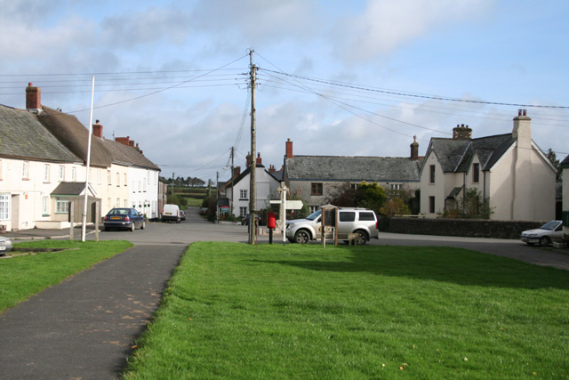 Ashreigney: village green © Martin Bodman :: Geograph Britain and