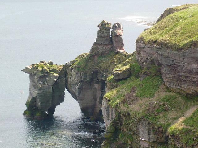 The arch of Needles Eye north of Berwick