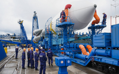 Launch of the Soyuz-2 carrier rocket  from the Plesetsk cosmodrome