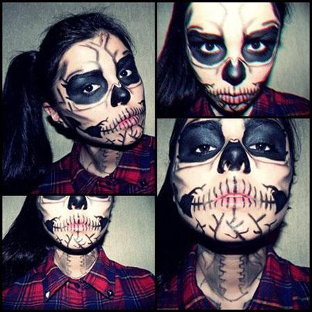 Необычный макияж на Хэллоуин Прикольные картинки на fun
